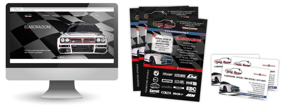 sito-web-volantino-a5-biglietto-da-visita-torino-racing